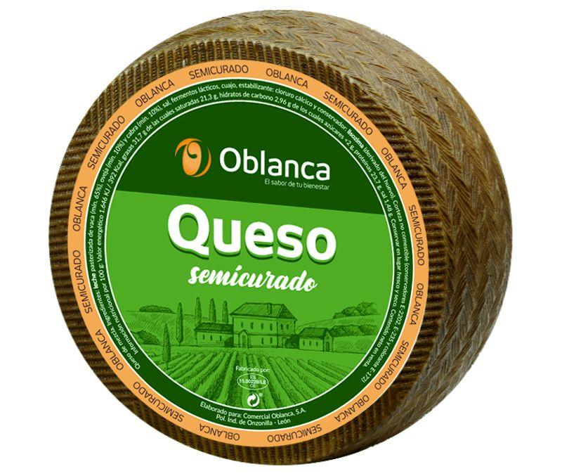 QUESO OBLANCA SEMICURADO 1X3KG APROX.